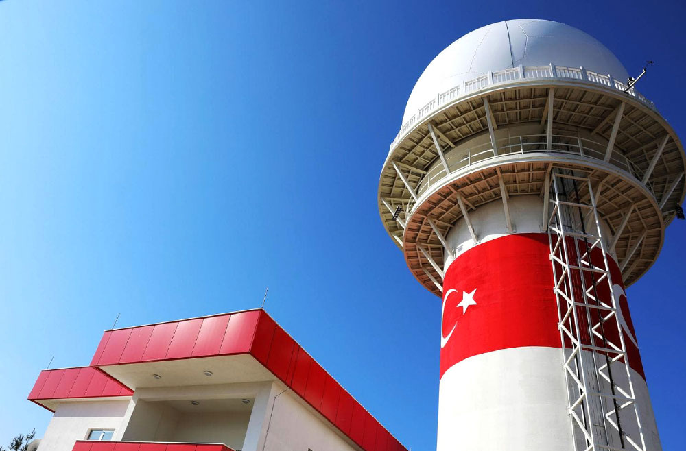 The National Primary Surveillance Radar Installed and Set Up at Gaziantep Airport